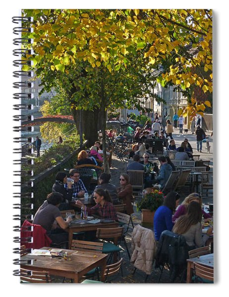 Riverside Cafes - Ljubljana Spiral Notebook