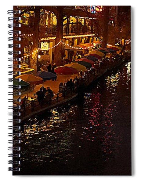 Riverwalk Night Spiral Notebook