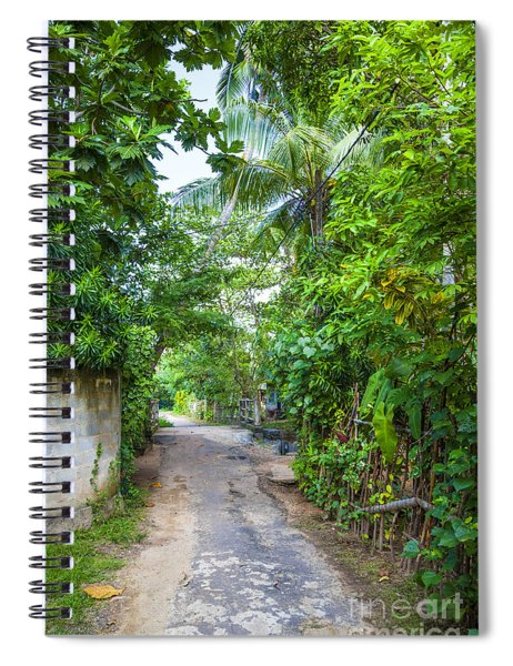 road in the Sri Lanka jungle Spiral Notebook