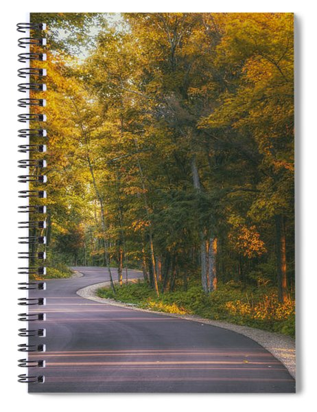 Road To Cave Point Spiral Notebook