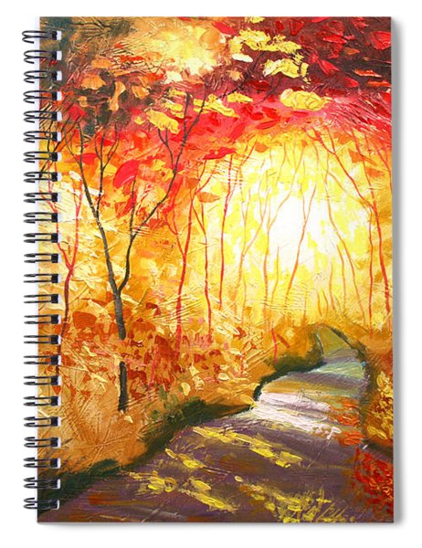 Road To The Sun Spiral Notebook