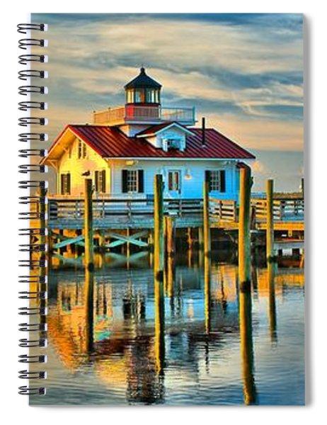 Roanoke Marsh Lighthouse Dawn Spiral Notebook