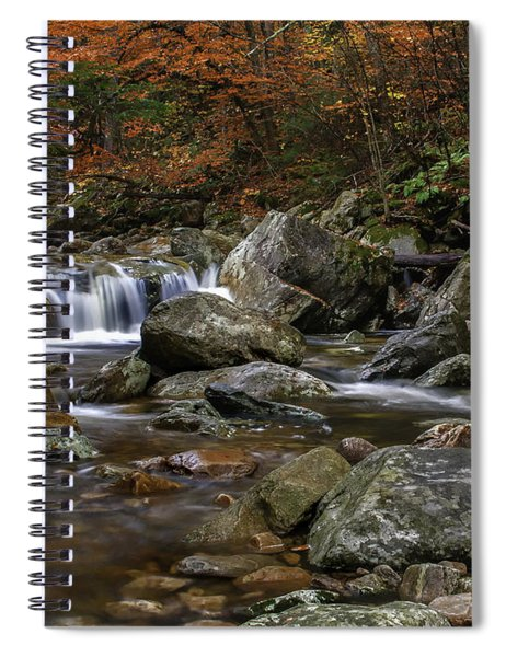 Roaring Brook - Sunderland Vermont Autumn Scene  Spiral Notebook
