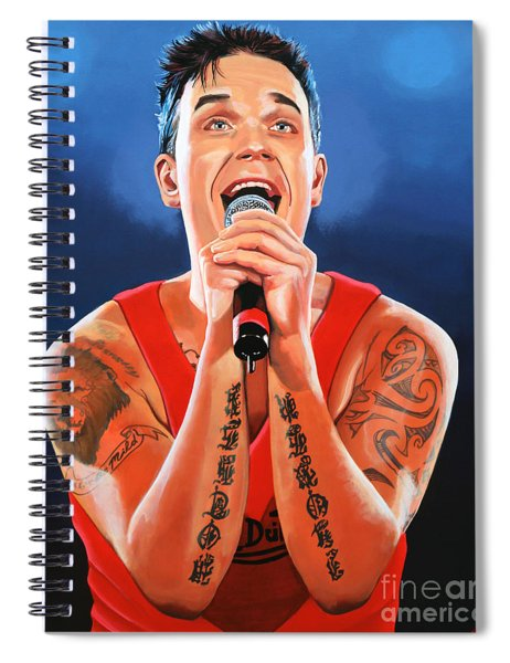 Robbie Williams Painting Spiral Notebook