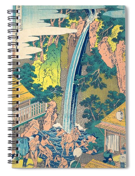 Roben Waterfall At Oyama In Sagami Province Spiral Notebook