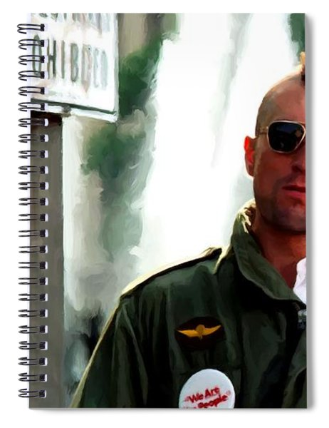 Robert De Niro In The Film Taxi Driver - Martin Scorsese 1976 Spiral Notebook