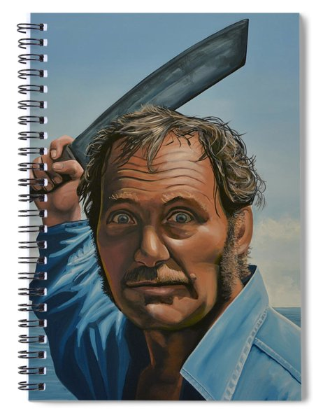 Robert Shaw In Jaws Spiral Notebook