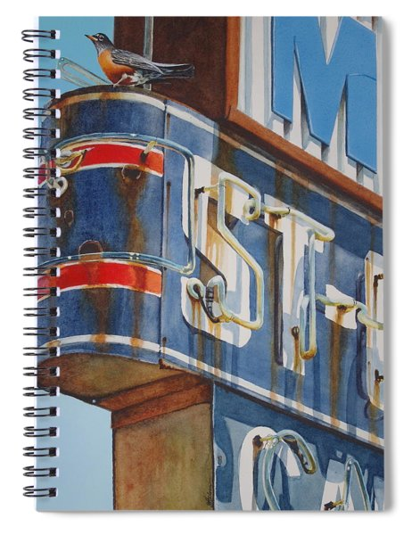 Robin And Motel Spiral Notebook