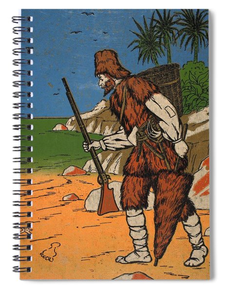 Robinson Crusoe, Illustration From The Spiral Notebook