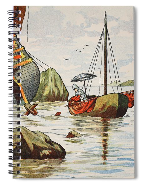 Robinson Crusoe Rescuing A Dog From A Spanish Shipwreck Spiral Notebook