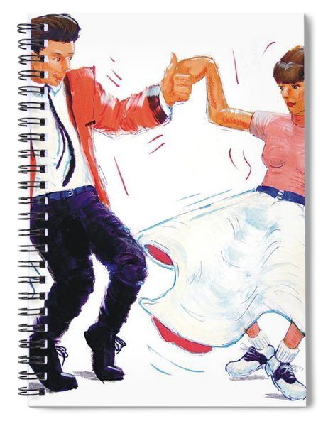 Rock And Roll Dancers Spiral Notebook