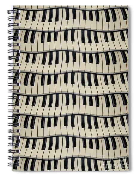 Rock And Roll Piano Keys Spiral Notebook
