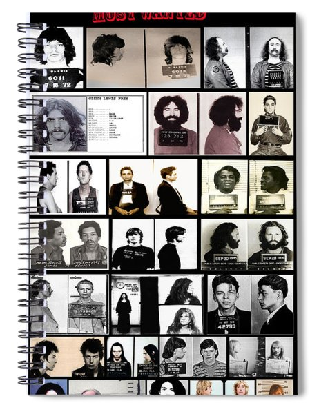 Rock And Roll's Most Wanted Spiral Notebook