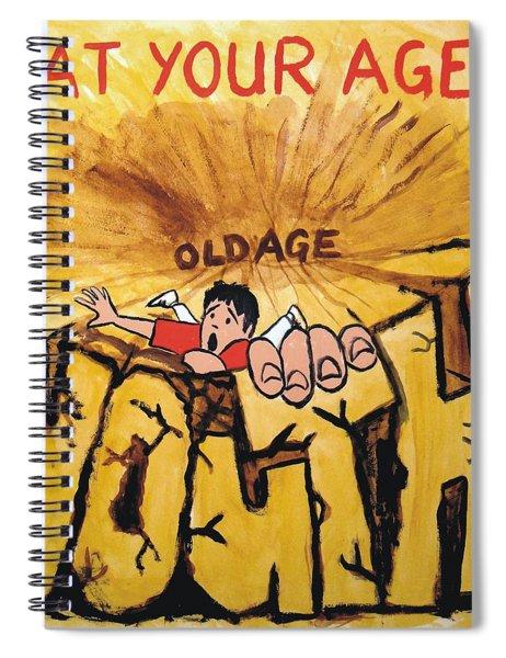 Rock Climbing Cartoon Spiral Notebook
