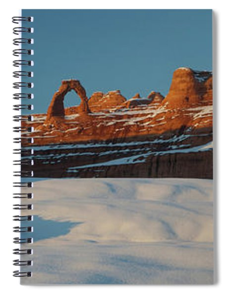 Rock Formations In Winter, Delicate Spiral Notebook