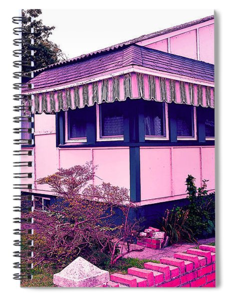 Rockaway Point Bungalow Pink And Blue Spiral Notebook