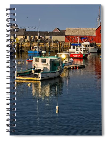Rockport Harbor No.1 Spiral Notebook