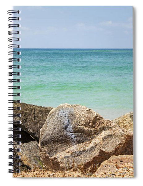 rocks in front of the Indian Ocean Spiral Notebook