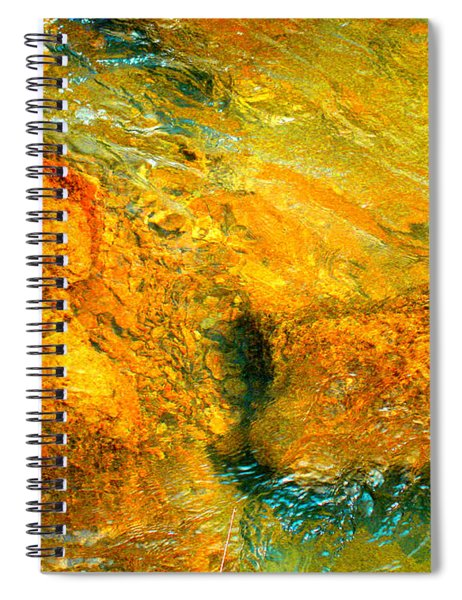 Rocks Under The Stream By Christopher Shellhammer Spiral Notebook