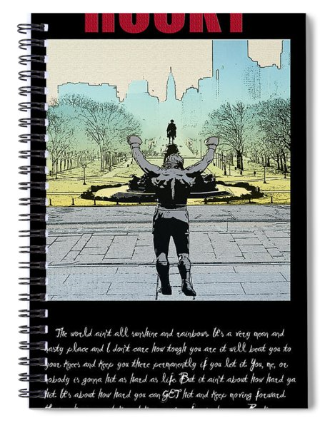 Rocky - All Sunshine And Rainbows Spiral Notebook