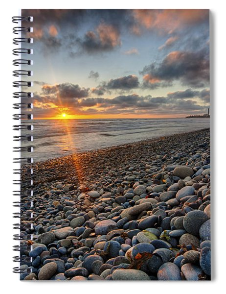 Rocky Coast Sunset Spiral Notebook