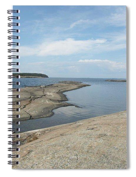 Rocky Coastline In Hamina Spiral Notebook