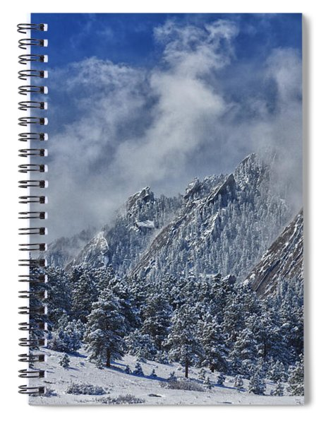 Rocky Mountain Dusting Of Snow Boulder Colorado Spiral Notebook