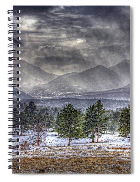 Rocky Mountain Snow Storm Estes Park Colorado Spiral Notebook