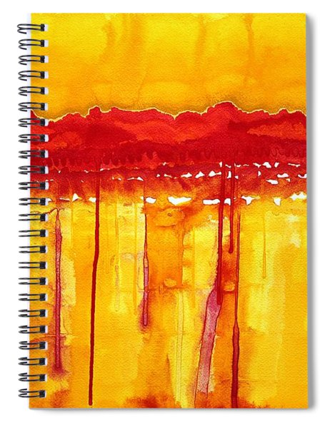Rocky Mountains Original Painting Spiral Notebook