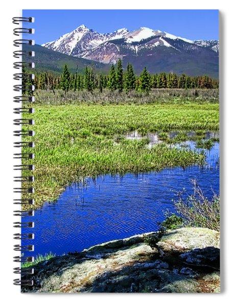 Rocky Mountains River Spiral Notebook