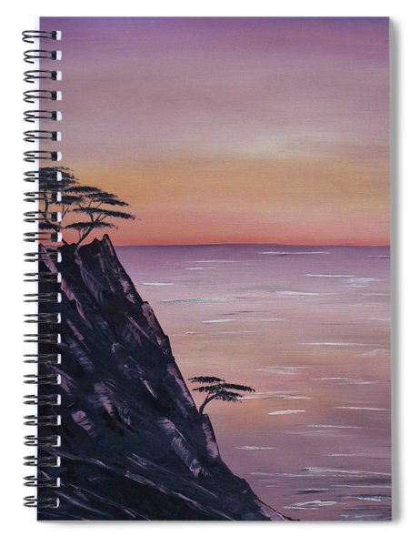 Rocky Sunset Spiral Notebook