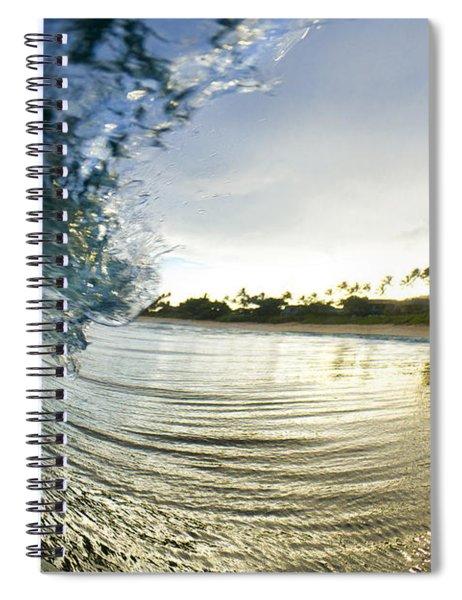 Rolled Gold Spiral Notebook