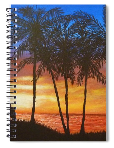 Romance In Paradise Spiral Notebook