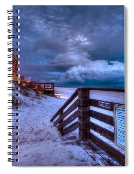 Romar Beach Clouds Spiral Notebook