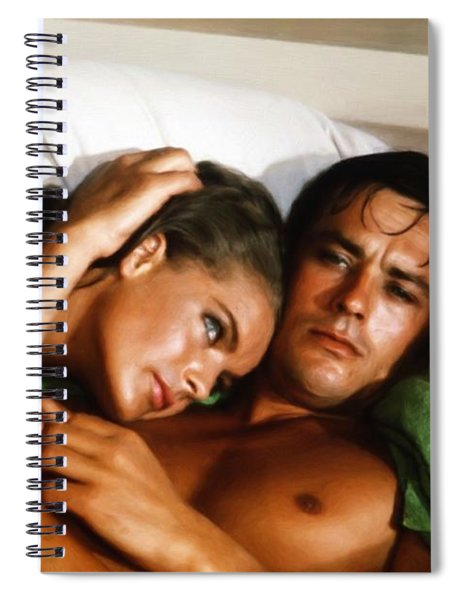 Romy Schneider And Alain Delon Spiral Notebook
