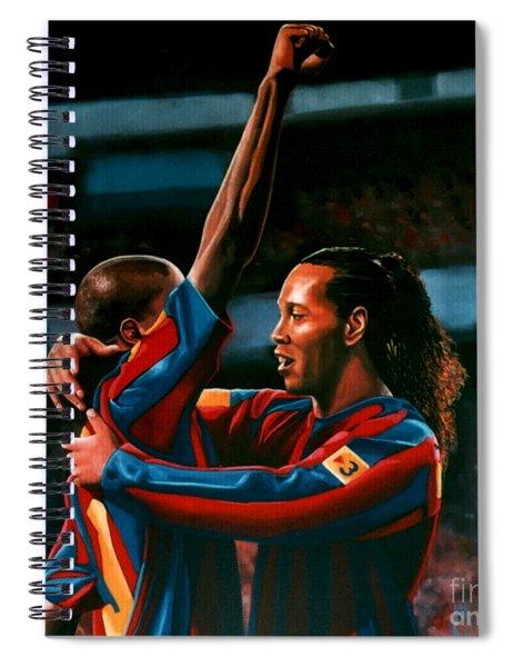 Ronaldinho And Eto'o Spiral Notebook