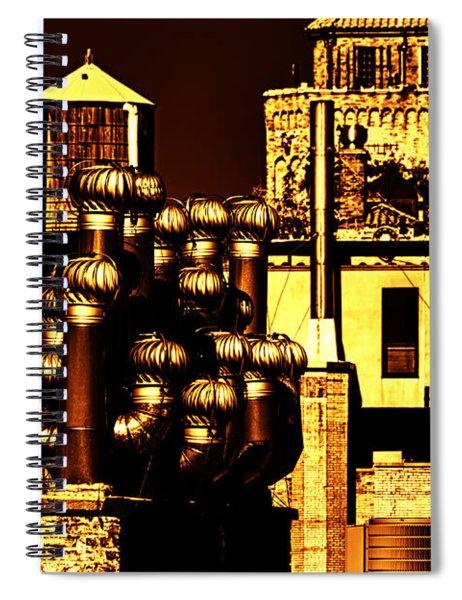 Roof Yellow Orange Spiral Notebook