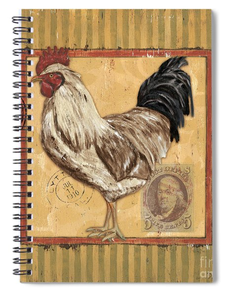 Rooster And Stripes Spiral Notebook