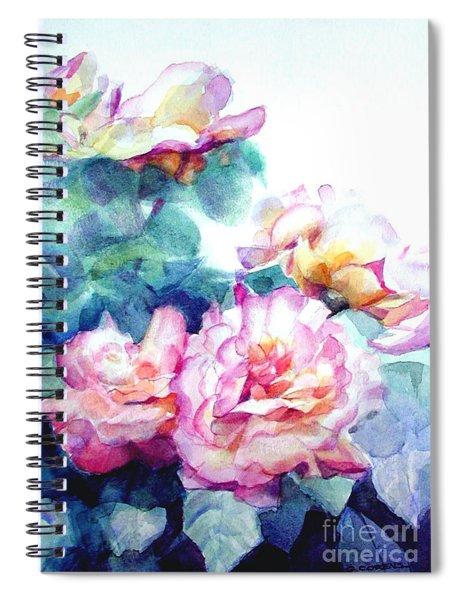 Pink Rose Bush Spiral Notebook
