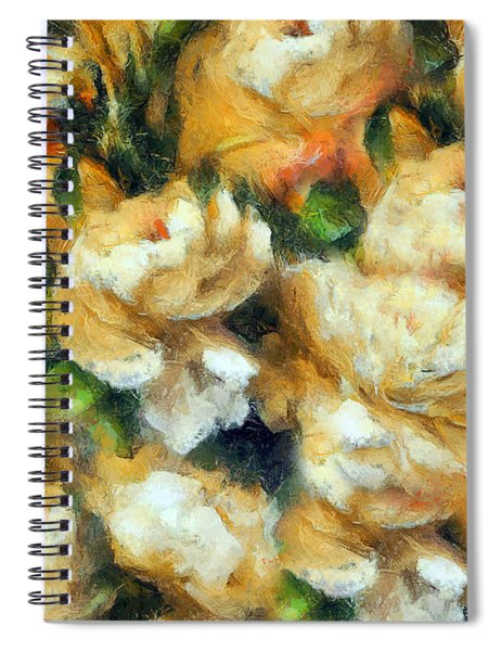 Rose Garden Abstract Expressionism Spiral Notebook