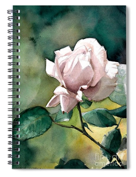 Watercolor Of A Lilac Rose  Spiral Notebook
