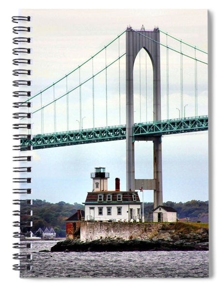 Rose Island Lighthouse Spiral Notebook