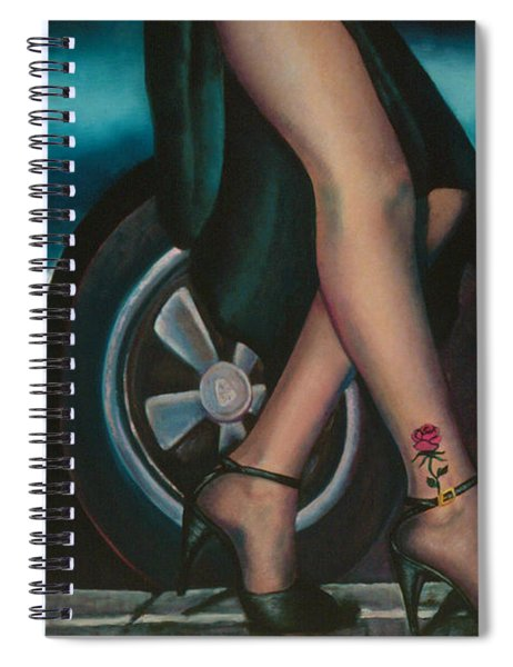 Rose Tattoo Spiral Notebook