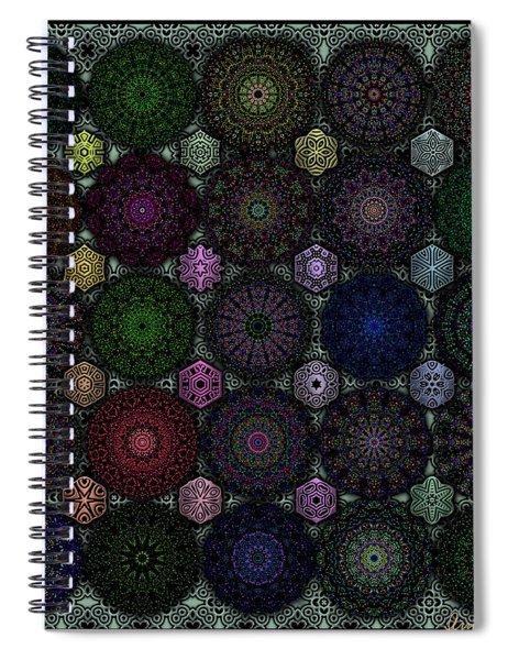 Rose Window Kaleidoscope Quilt Spiral Notebook