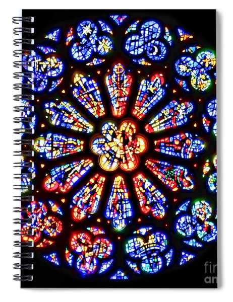 Rose Window Of Grace Cathedral By Diana Sainz Spiral Notebook