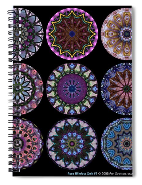 Rose Window Quilt 1 Spiral Notebook