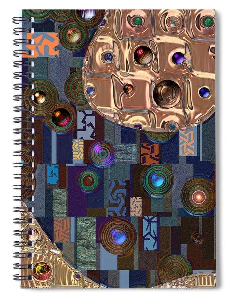 Rosegold River Spiral Notebook