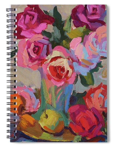 Roses And Apples Spiral Notebook