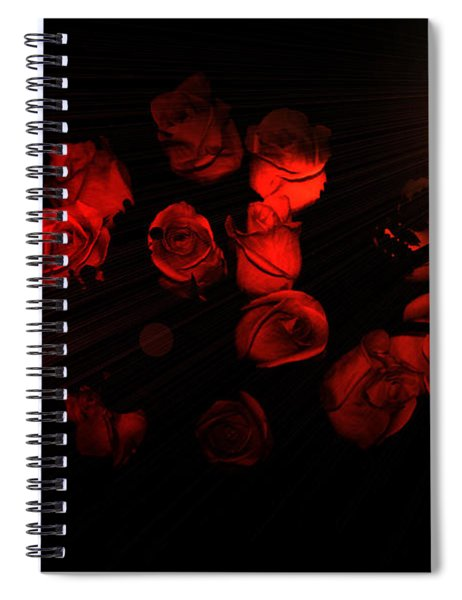 Roses And Black Spiral Notebook