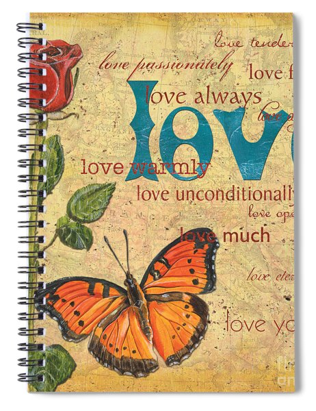 Roses And Butterflies 2 Spiral Notebook